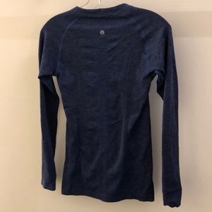 lululemon athletica Tops - Lululemon blue LS Run Swiftly, sz 6, 68671
